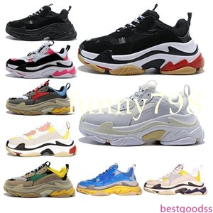 2019 new Luxury Designer fashion Men Wave Runner Women triple s men chaussures scarpe zapatos mens femmes Speed Trainer shoes sneakers