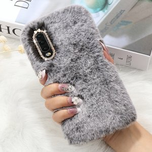 Women Soft Rabbit Fluffy Fur Case for Samsung Galaxy A51 A71 A10 A20 J3 J4 J5 J6 Plus 2018 Cover
