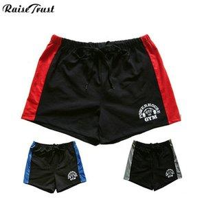 shorts dos homens com potência, shorts de treino de musculação fitness, 100% algodão de alta qualidade musculation fitness homens