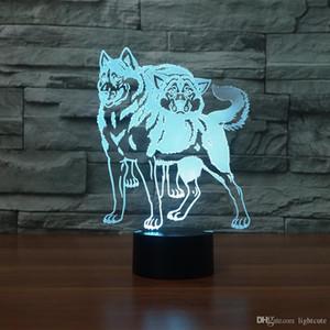 더블 허스키 너무 멋진 3D 환상 밤 빛 터치 7 색 변경 홈 장식 아기 소녀 소년 램프 크리스마스 선물 크리스마스 크리스마스 선물