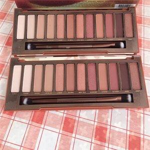 Droshjpping Make-up-Palette Kirsche und Wärme Lidschatten-Palette 12 Schattierungen mit Pinsel Matte Shimmer Highlighter Bronzer Palette Blush