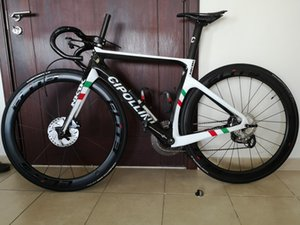 Campeón del mundo Cipollini NK1K Disco Disco Carbon Road Bicicleta completa con grupo original R7020 a través del eje