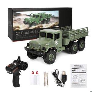 2018 NEW WPL B16 RC Военный грузовик Комплекты 4WD 1/16 Бездорожье Гусеничный автомобилей игрушки мальчиков Дети DIY