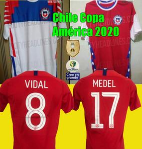 Camisetas de Chile Copa América 2020 축구 유니폼 20 21 Alexis 홈 멀리 Valdivia Vidal H.Suazo Medel E.Vargas 칠레 축구 셔츠