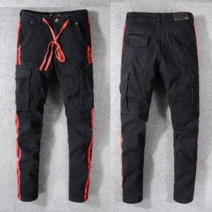 Rodo men's black jeans youth Slim Leggings #574 YTT6