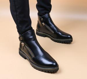 Martin botları mokasen deri ayak bileği çizme erkek botları kar botları sonbahar kış erkekler rahat ayakkabılar lüks tasarımcı erkek ayakkabı bağbozumu V22 mens