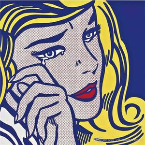 A. Roy Lichtenstein alta qualidade pintado à mão HD Imprimir Pintura Pop Abstract Art Oil Menina de grito em G48 Canvas Wall Art Home Deco