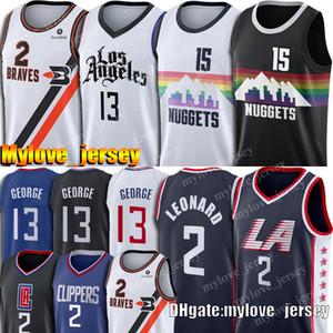 Kawhi 2 Jersey Leonard Paul 13 George Jerseys Clipper Nikola 15 Jerseys Jokic Jamal 27 Murray Basketball Jersey