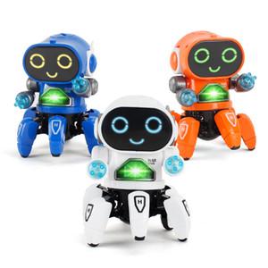 Eléctrica robot bailarín scull con música ligera puede dancechildren de los niños de juguete modelo de la aclaración del rompecabezas juguetes FUNKO pop