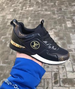 2019 NOVAS Sapatilhas de grife Marca Mulher Homem Sapatos de Malha De Couro Misturado Cor Trainer Corredor Sapatos Unisex Tamanho 36-41