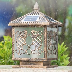 Lámparas posterior de energía solar brillante impermeable al aire libre del jardín enciende las luces solares del paisaje de ahorro de energía llevó la iluminación posterior de la cubierta Villa yark