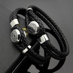Большой мужской браслет MONT Mesh Round Brand Пряжка мужской двойной плетеный кожаный шнур браслет