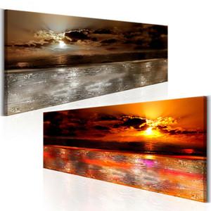 2019 Yeni Sanat Sunset Sunrise Doğa Okyanus Baskı Resim Tuval Wall Art Baskılar Çerçevesiz Ev Resimleri Dekorasyon Baskı Boya