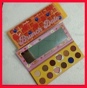 2019 Hot Eye Makeup Bellezza Zoella x ColourPop Cosmetics Brunch Data 12 colori Palette per ombretti in polvere pressata