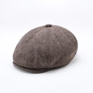 New England Cap Octagon Hat Tide Men Women Classic Fashion Wool Berets Vintage Painter Hat Autumn Winter
