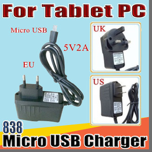 """838 Micro USB 5V 2A Charger Converter Power Adapter US EU UK plug AC For 7"""" 10"""" 3G 4G MTK6582 MTK6580 call Tablet PC phone Phablet B-PD"""