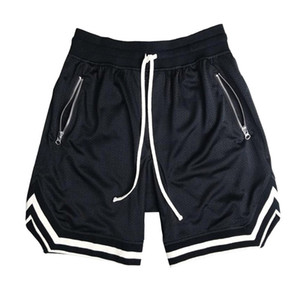mens Musculation maillot cesta mais o tamanho de malha calções de basquete curto homme homens Hip hop verão shorts pantalones soltos