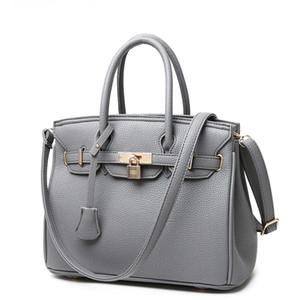 Moda de cuero de la pu bolsos de las mujeres de gran capacidad bolsa de hombro de las señoras crossbody bolsas de mensajero bolso de asa superior femenina WBS254
