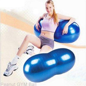 Venda Hot 90 * 45 centímetros Sports Academia Training Gym Exercício ioga bola Pilatos à prova de explosão de amendoim Forma Durable frete grátis