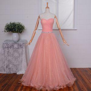 구슬 달린 연인의 웨딩 드레스는 2020 년 레이스를한다. Tulle Long Special Occasion Gowns 바닥 길이 Quinceanera Dresses