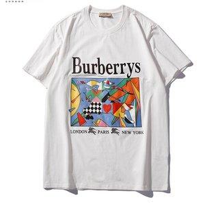 19SS erkekler t gömlek Kısa kollu hip hop tişörtlerin kadınlar justin bieber Kamuflaj maymunlar-adam kafaları tshirt