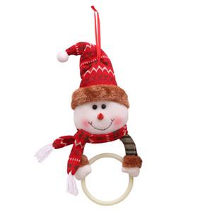 Christmas Hanging Pendant Christmas Clothes Napkin Ring Ornament Towel Ring Xmas Dinner Napkin New Year Decorationd Navidad