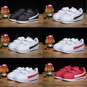 Nike Recién nacido Bebé Cortez Niños Zapatillas de correr Cuero Negro Blanco Rojo Niños pequeños Entrenadores ocasionales niño niña Diseñador zapatillas td Infant