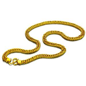 8 MM 60 cm Homens moda hip hop rocha colar de cor de ouro simples clássico pop cavalo chicote colar punk grosso cadeia de jóias Por Atacado C19011501