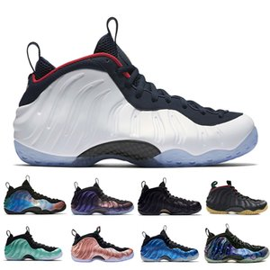 Penny Hardaway Foams One Olympic Denim Black Metallic Gold Basketball Shoes Pro Sequoia Eggplant Black Metallic Gold para hombre Zapatillas de deporte