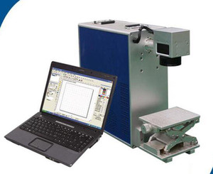 Portable mini 30w fiber Laser Marking Machine price for surface and deep marking and cutting on metal and non-metal materials