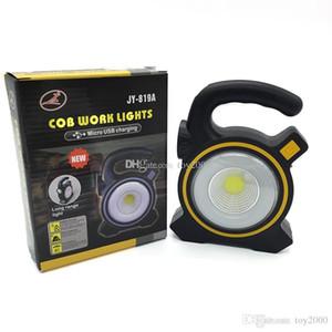 Luci solari alimentate USB portatile 30W LED proiettore con torcia Lanterne COB Spot ricaricabile LED Luce di inondazione Lampada da lavoro per esterni