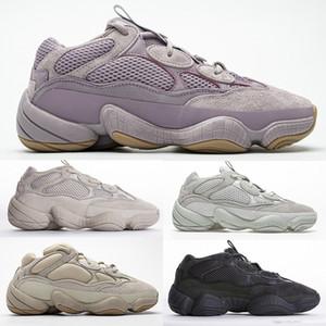 PK Version Desert Rat 500 Vision douce Chaussures Pierre Des Chaussures Femmes Hommes Kanye Designer Os Blanc Courir Chaussures de sport noir fard à joues Sport