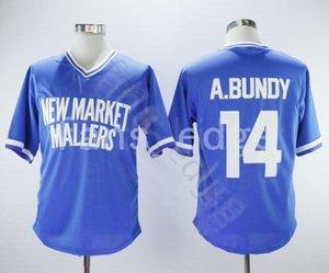 Cheap AL BUNDY NEW MARKET MALLERS BASEBALL JERSEY 14 Mens Stitched Jerseys Shirts Size S-XXXL Free Shipping 63