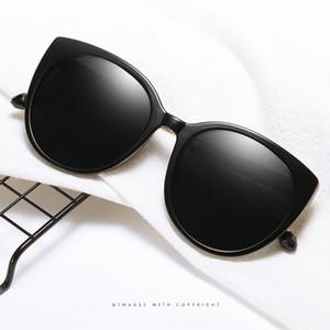 Yeni Moda Büyük Çerçeve Tasarımcı Ayna Güneş Kadın Polarize Güneş Gözlükleri Karşıtı Ultraviyole Lady Sürüş Güneş