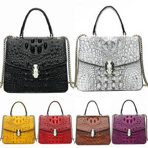 Hot Sale-Women Famous Starbucks Cute Shopping Crocodile Shoulder Bag Ladies Fashion Brand Designers Lunch Bag Free Shipping High Quality #984