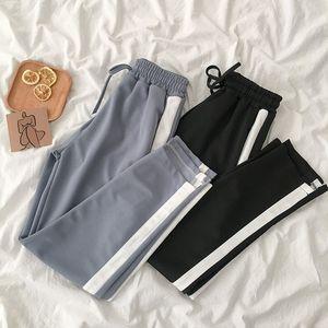 Gagarich taille haute hanche côté rayé Patchwork Pantalon droit Loose Women Cuasal Pocket Conception coréenne Pantalones Printemps Nouveau