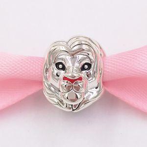 Otantik 925 Gümüş Boncuk Disny Siba Lion Charm Charms Avrupa Pandora Stil Takı Bilezikler Kolye 798049ENMX uyar