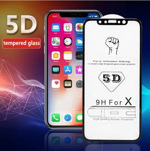iPhone x xs için temperli film max xr 5D cep telefonu koruyucu soğuk oyma tam ekran kaplı temperli cam filmi i8 iX filmler