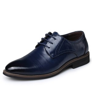 Big Size 37-48 Oxfords Leather Men Shoes Fashion Casual Pointed Top Formal Business Male Wedding Dress Flats Wholesales