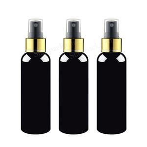 50X150ml botella vacía plástica y estética Negro con oro collar con spray botellas de perfume de la bomba, pulverizador de 150cc de bombas para recipientes, aerosol de la niebla
