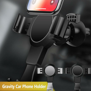Silver Black Universal 360° Gravity Car Air Vent Mount Holder Stand Mobile Cell Phone GPS Universal Car Bracket