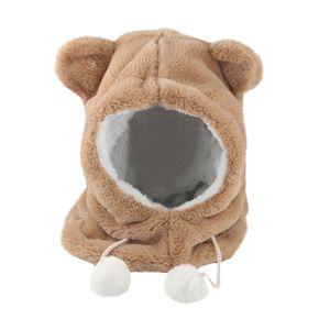 Fur Hat for children leopard-print bike windscreen hat Christmas lovely winter furry animal hat scarf # p30