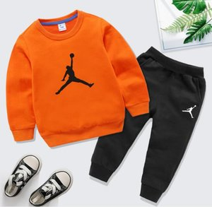 2020 New style children's clothing boys' sweater suit girls' sportswear children's top and trousers two pieces