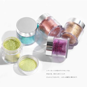 10ml Dipping Powder Sculpture Magic Mirror Chrome Nails Art Manicure Dip Shimmer Glitter Pigment Dust For Artistic Rose Gold DIY