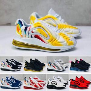 Nike air max 270 720 2019 kanye west infantil argila 72 criança crianças tênis de corrida estática gidd chaussure de esporte para enfant meninos meninas formadores casuais