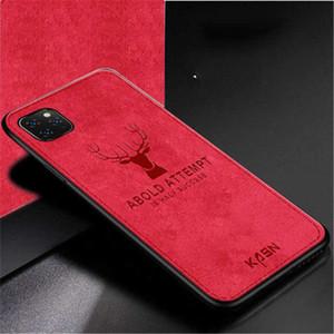 Kumaş Kumaş Doku 3D Kabartmalı Geyik Kılıf iPhone 11 pro max XR XS Max X 7 8 Artı Premium Yumuşak TPU kenar Telefon Kılıfı yeni lüks