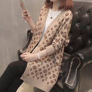 Fashion-2018 Nouvelle marque Automne Hiver Mode Femme Pull en laine Femmes Manches Longues Pull en tricot lâche Womens Knitted femme pull