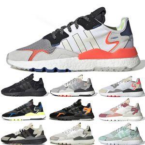 Adidas Nite Jogger Shoes Venta al por mayor de las mujeres para hombre Jet Set Londres Nueva York París Seguridad Vial Blanco zapatos Exclusivo Run zapatillas de deporte