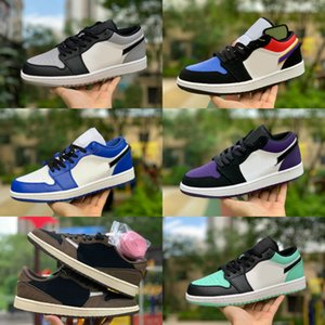 2019 Nike Air Jordan 1 retro jordans Low Zapatillas de baloncesto Travis Scotts Ts Retros 1 s High Mint Green Turbo Green Blanco Mint Green Blue Red Boe Shoes