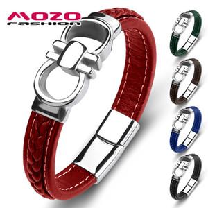 Black Leather Wristband YOGA OM  AUM HINDI OM KARA SYMBOL Charm Bracelet unisex
